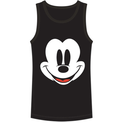 Picture of Disney Men's Tank Happy Face Mickey Black