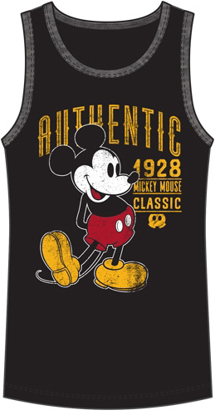 Picture of Men's Tank Mickey Mouse Authentic 28, Black