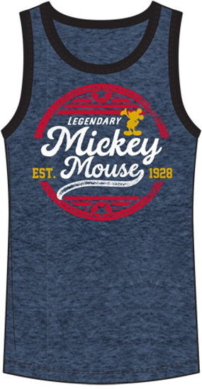 Picture of Disney Men's Tank Mickey Mouse Legendary Mouse Navy Black