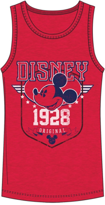 Picture of Disney Men's Tank Mickey Mouse Vintage Star Red