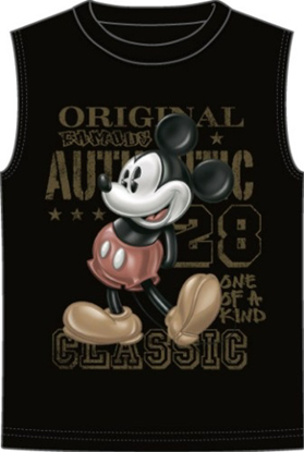Picture of Disney Mens Shooter Tank Original 28 Black