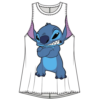 Picture of Disney Junior Fashion Tank Not in the Mood Stitch White