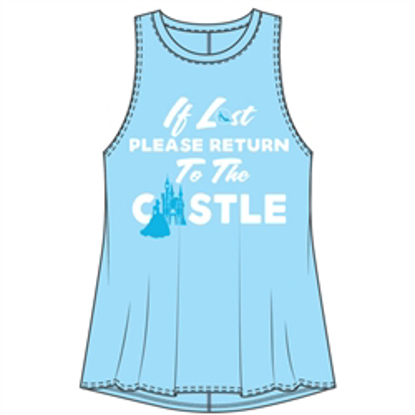 Picture of Disney Junior Fashion Tank If Lost Princess Castle Light Blue