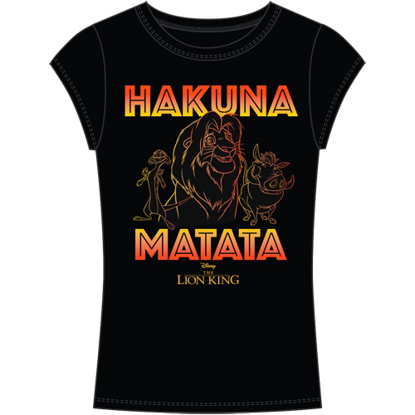 Picture of Disney Junior Fashion Top Lion King Hakuna Matata Simba Timon Pumba Black