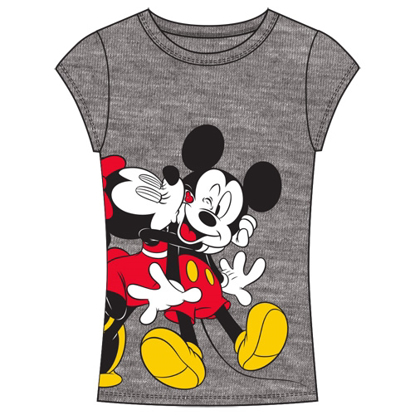 Picture of Disney Junior Fashion Top Smack one Kiss Mickey Minnie Heather Gray