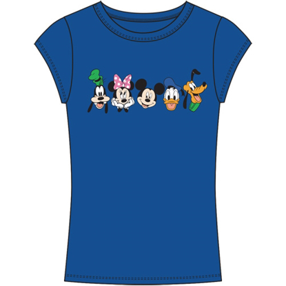 Picture of Disney Junior Fashion Top Happy Squad Goofy Minnie Mouse Mickey Mouse Donald Pluto Royal Blue