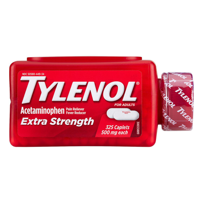 Picture of Tylenol Extra Strength Caplets 500mg 325 ct