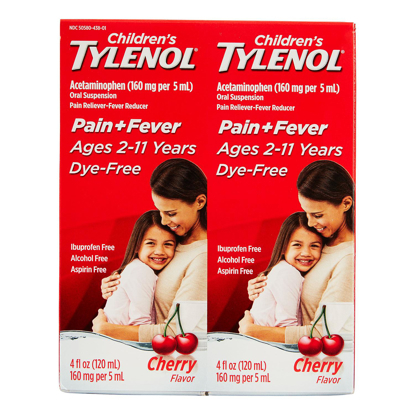 Picture of Children's Tylenol Oral Suspension Cherry 4 oz 2 pk