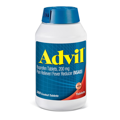 Picture of Advil Pain Reliever Fever Reducer Coated Tablet 200mg Ibuprofen 360 ct