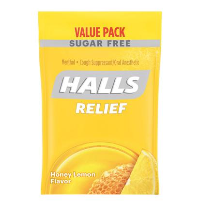 Picture of Halls Sugar Free Cough Drops Honey Lemon 180 ct