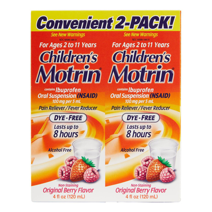Picture of Children's Motrin Oral Suspension 4 oz 2 pk