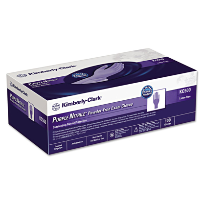 Picture of Kimberly-Clark Professional  PURPLE NITRILE Exam Gloves Small Purple - 100/Box