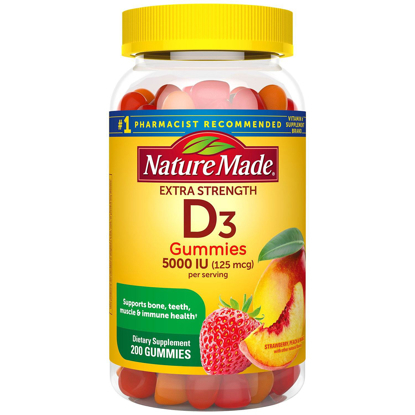 Picture of Nature Made Extra-Strength Vitamin D3 5000 IU Gummies 125 mg 200 ct