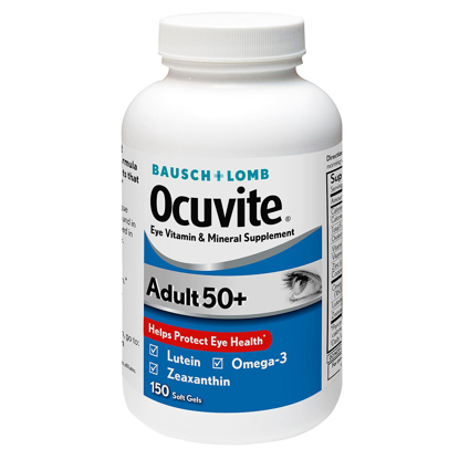 Picture of Bausch + Lomb Ocuvite Supplement Adult 50+ 150 ct
