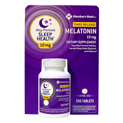 Picture of Members Mark Timed Release Melatonin 10 mg 250 ct