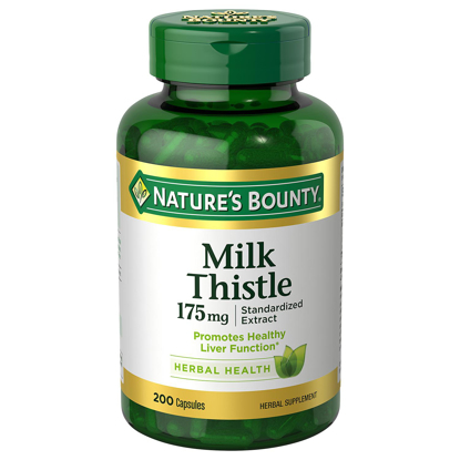 Picture of Natures Bounty Milk Thistle 175mg 200 ct