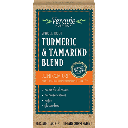 Picture of Veravie Turmeric & Tamarind Blend Joint Comfort Supplement Tablets 75 ct