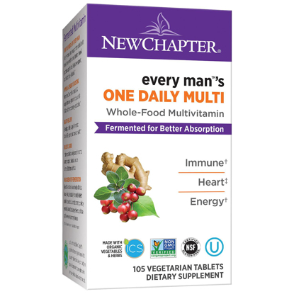 Picture of New Chapter Every Man One Daily Fermented Whole-Food Men's Multivitamin 105 ct