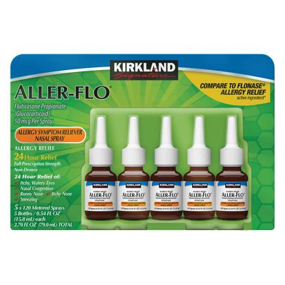 Picture of Kirkland Signature Aller Flo 50mc Allergy Spray 5 Bottles