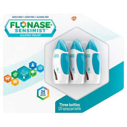 Picture of Flonase Sensimist Allergy Relief 3 Bottles