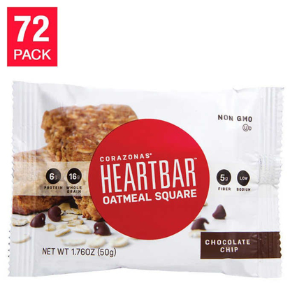 Picture of Chocolate Chip Oatmeal Heart Bars 72 pack