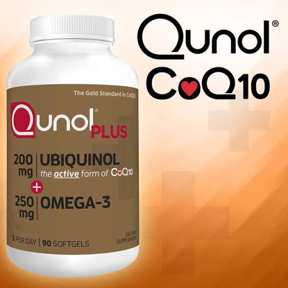 Picture of Qunol Plus CoQ10 Ubiquinol 200 mg with Omega-3 90 Softgels
