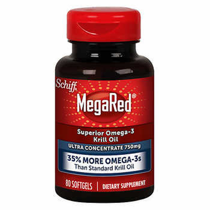 Picture of Schiff MegaRed Omega-3 Krill Oil Ultra Concentrate 750 mg 80 Softgels