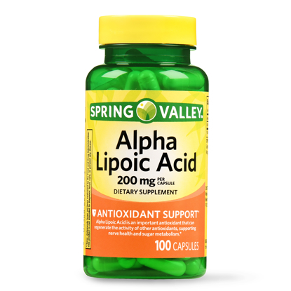 Picture of Spring Valley Alpha Lipoic Acid Capsules 200 mg 100 Ct