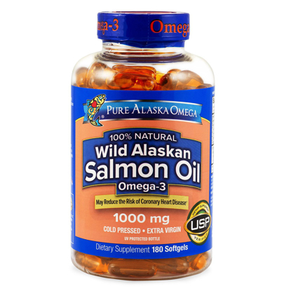 Picture of Wild Alaskan Salmon Oil Softgels 180 Count