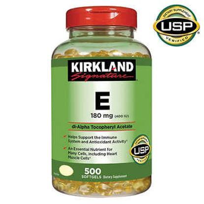 Picture of Kirkland Signature Vitamin E 180 mg 500 Softgels