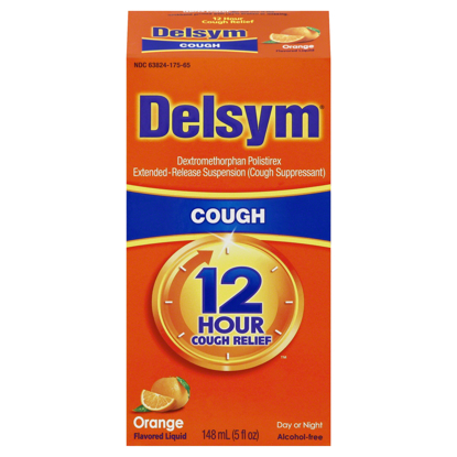 Picture of Delsym Adult Cough Suppressant Liquid Orange Flavor  5 fl oz