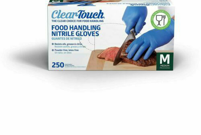 Picture of Clear Touch Food Handling Nitrile Gloves  Medium 250 Count