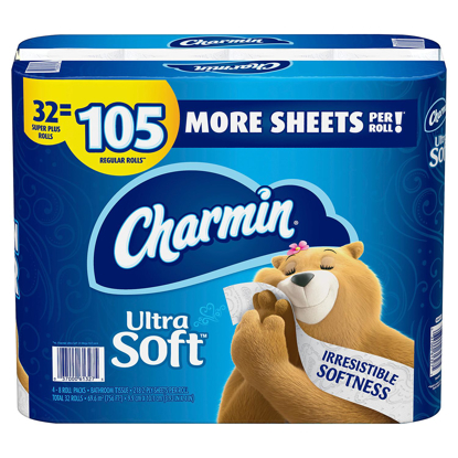 Picture of Charmin Ultra Soft Toilet Paper 32 Super Plus Roll 218 Sheets Per Roll