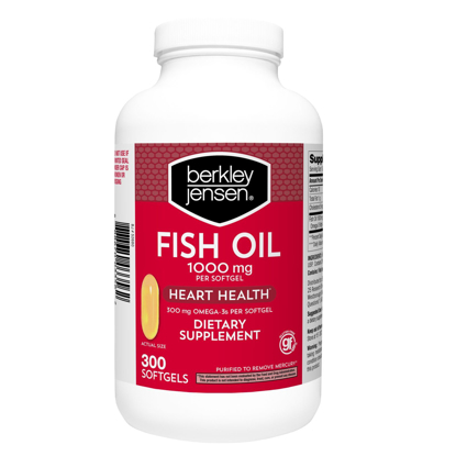 Picture of Berkley Jensen Fish Oil 1000 Mg 300 ct soft gels