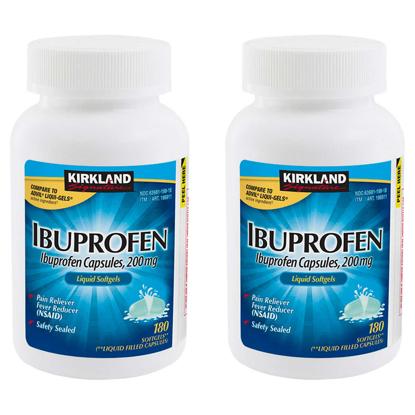 Picture of Kirkland Signature Ibuprofen 200 mg Pain Reliever Fever Reducer 360 Liquid Filled Capsules