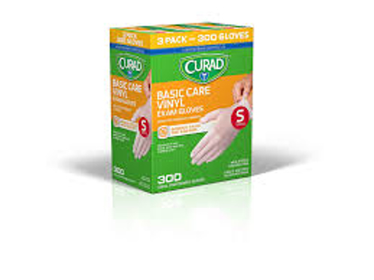Picture of Curad Basic Care Vinyl Exam Gloves Small 300 ct