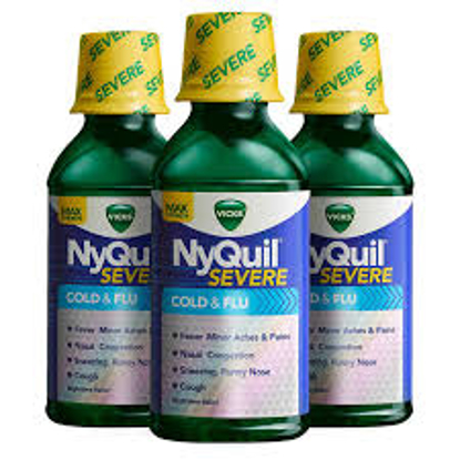 Picture of Vicks NyQuil Severe Cold & Flu Liquid 36 Ounces