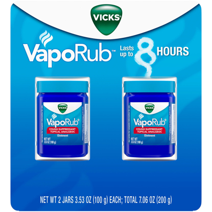 Picture of Vicks VapoRub Cough Suppressant Topical Analgesic Ointment Twin Pack 7.06 oz