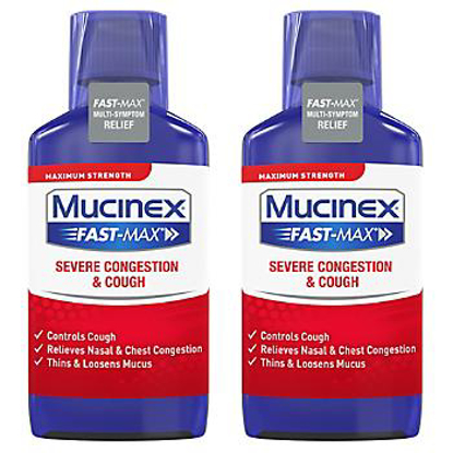Picture of Mucinex Fast-Max Severe Congestion & Cough Maximum Strength Multi-Symptom Liquid 2 pk./9 fl oz