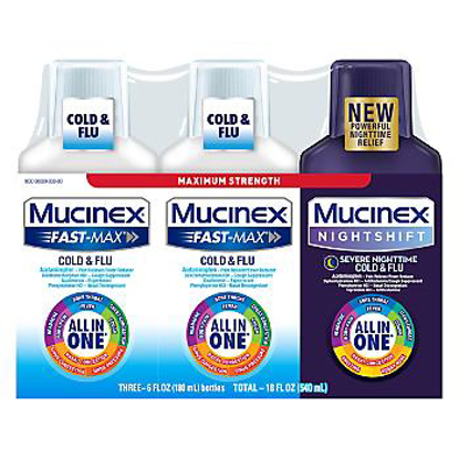 Picture of Mucinex Fast-Max Cold & Flu with Mucinex Night Shift Liquid Cold & Flu Variety Pack