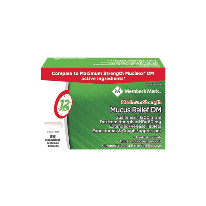 Picture of Members Mark Mucus Relief DM Tablets 56 ct