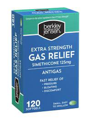 Picture of Berkley Jensen Extra Strength Gas Relief Softgels 120 ct