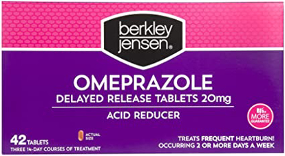 Picture of Berkley Jensen 20mg Omeprazole Acid Reducer Tablets 42 ct