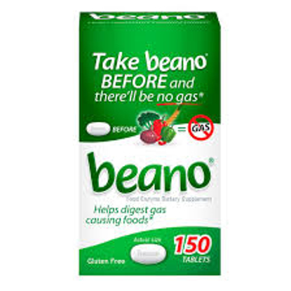 Picture of Prestige Beano Food Enzyme Dietary Supplement gas relief Tablets 150 ct