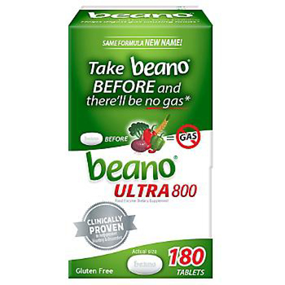 Picture of Beano Ultra 800 Gas Prevention Tablets 180 ct