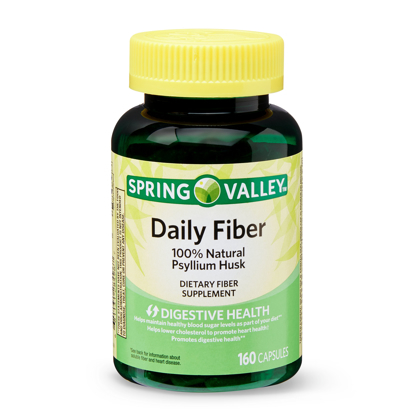 Picture of Spring Valley Daily Fiber 100% Natural Psyllium Husk Capsules 160 Count