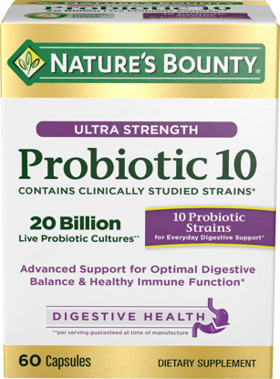 Picture of Nature's Bounty Ultra Probiotic 10 60 Capsules
