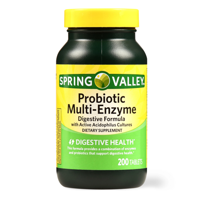 Picture of Spring Valley Probiotic Multi Enzyme Digestive Formula Tablets 200 Ct
