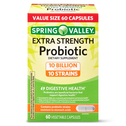 Picture of Spring Valley Extra Strength Probiotic Vegetable Capsules 60 Capsules