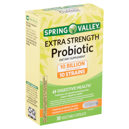 Picture of Spring Valley Extra-Strength Probiotic Vegetable Capsules 30 count
